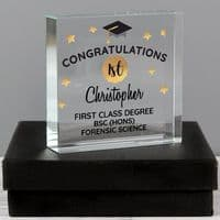 Personalised Congratulations Graduation Large Crystal Token - ideal gift